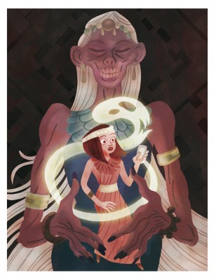 """Illustration pour """"Le réveil de la momie"""" , roman jeunesse de Jacques Asklund aux éditions Oskar."""