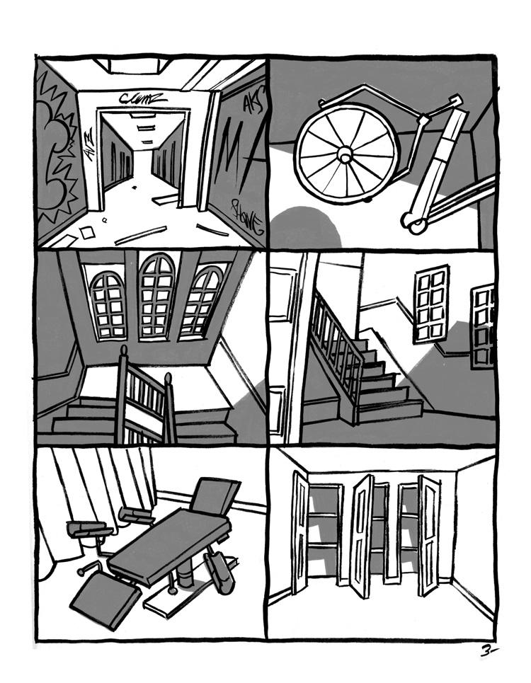 Hôpitaux abandonnés,abandoned place,house,urbex,clinique,bande dessinée,comics,bruit, fanzine