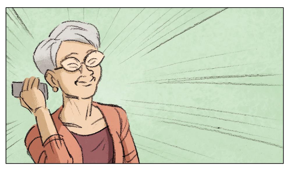 grand-mère,storyboard,agence,communication,réseaux,famille,super-héros