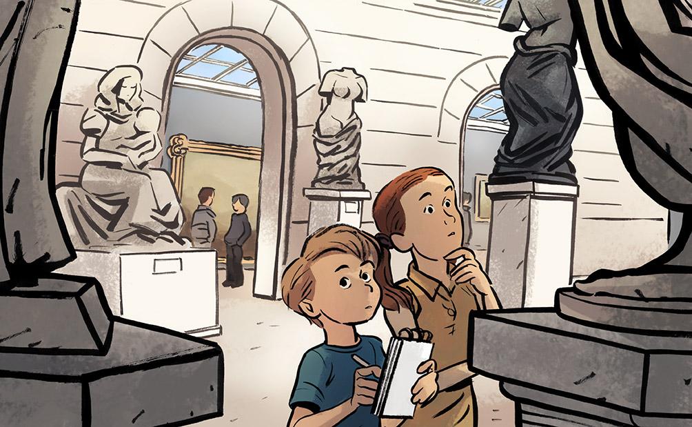 illustration pour les ados-musée-adolescents-presse-jeunesse-roman-aventure-découverte-éducation-illustration-