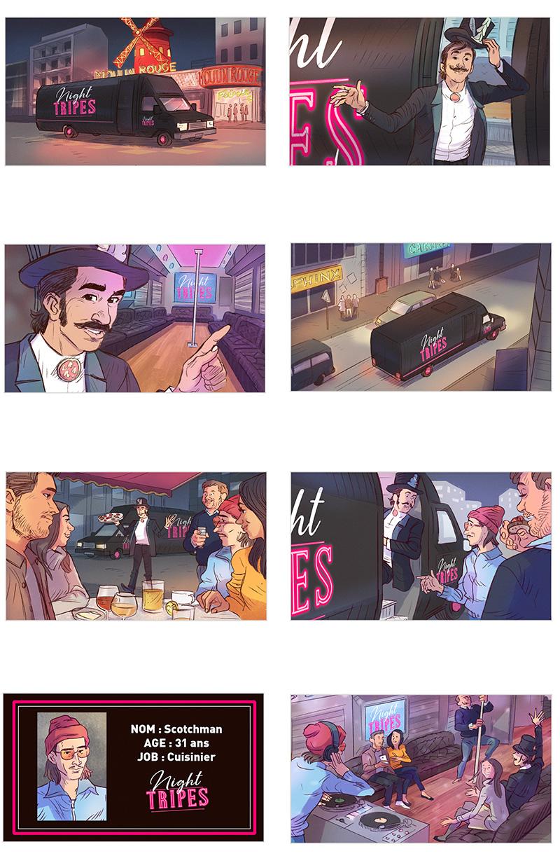 Storyboard Film Publicitaire pour les produits tripiers